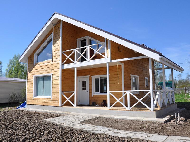 Каркасный загородный дом. Строительство по каркасным технологиям в Клину, Конаково, Солнечногорске с гарантией на долгие годы.