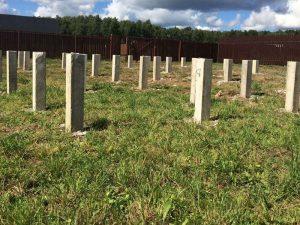 Свайно-бетонный фундамент в Клину. Бригада строителей на заказ.