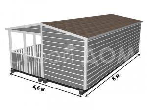 """Расположение внутренних комнат в """"ГАРДАРИКА"""". Строительство садового домика по низкой цене."""