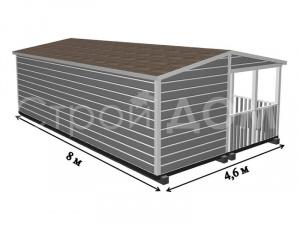 """Проект, схема, план домика """"ГАРДАРИКА"""" на даче в Подмосковье по низкой цене."""