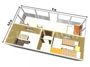 """""""ГАРДАРИКА""""-садовый домик с улучшенной планировкой. Купить бытовку в Клину недорого."""