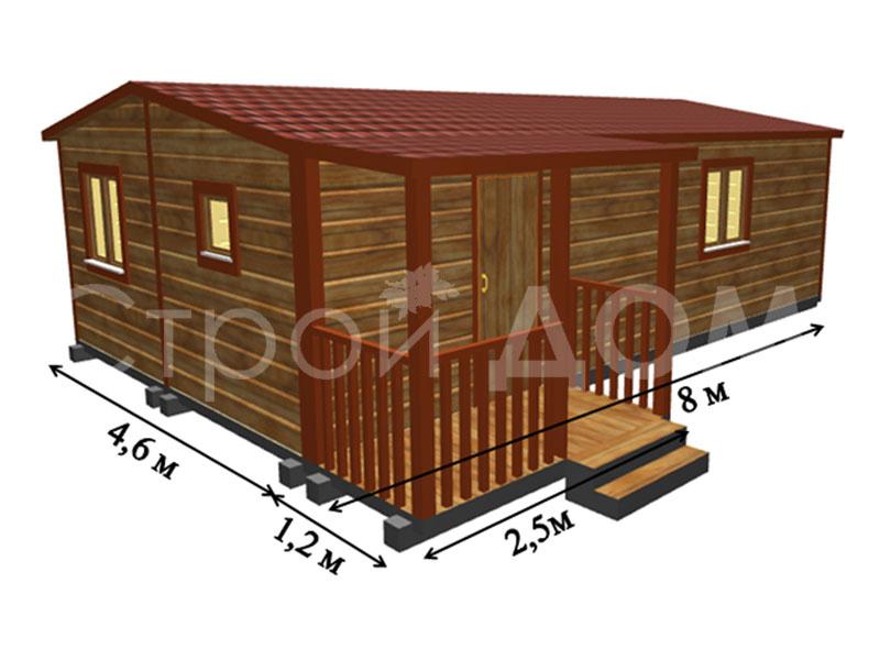 """Проект садового домика """"ГРАНДХАУС"""" от строительной компании в Клину. Купить недорого."""