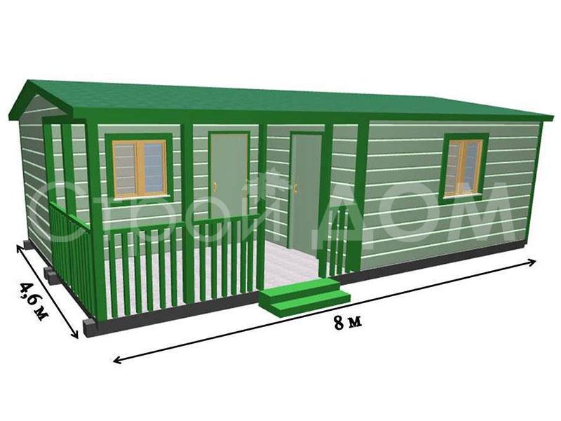 """Проект садового домика """"РАЗДОЛЬЕ"""" от строительной компании в московской области."""