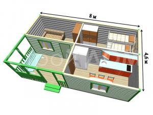 """""""РАЗДОЛЬЕ""""-садовый утеплённый домик с покрасом. Строительство в Клину недорого."""