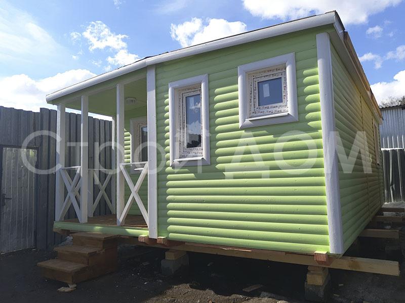 """Крашенный домик """"ВАЛДАЙ"""" с утеплением от производителя в Клину. Каркасное строительство недорого."""