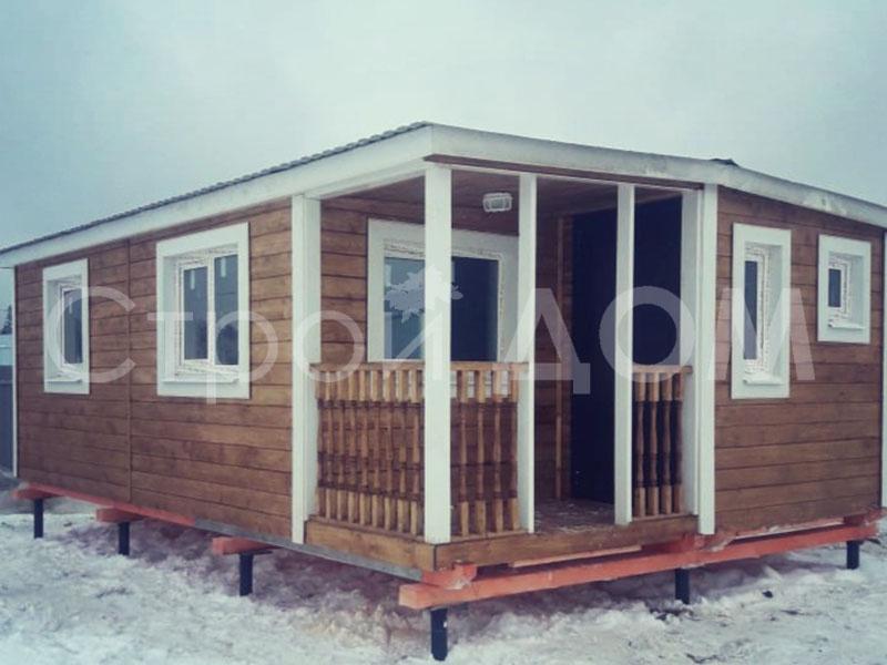 """Утеплённый садовый домик """"ВАЛДАЙ"""" крашенный недорого. Строительство в Клину."""