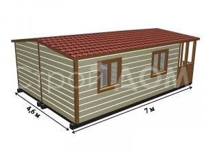 """""""ВАЛДАЙ""""-утеплённый ватой садовый домик от Строительной Компании в Клину."""