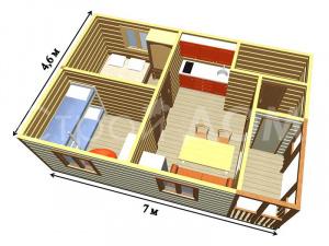 """""""ВАЛДАЙ""""-схема и план конструкции. Купить бытовку в Клину недорого."""