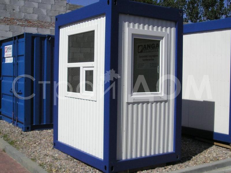Блок-контейнер железный недорого в Клину. Строительство в Московской области.
