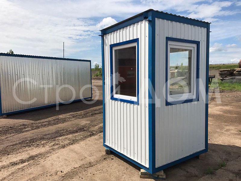 Железный блок-контейнер пост охраны КПП от производителя бытовок в Клину. Купить недорого.
