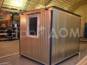 Блок-контейнеры 2 метра длиной КПП. Строительство бытовок недорого в Клину.