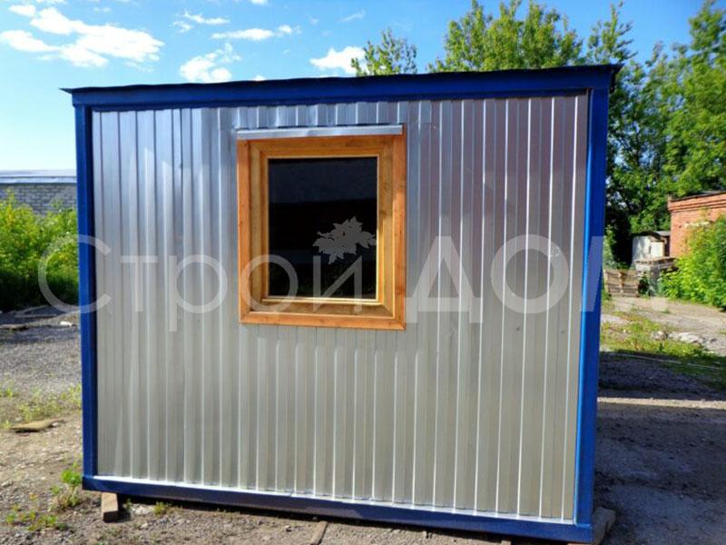 Блок-контейнер пост охраны металлический длиной 2 метра от производителя бытовок в Клину. Купить недорого.
