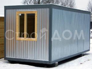 Металлический блок-контейнер ГОСТ длиной 6 метров по низкой цене от производителя бытовок в Клину.