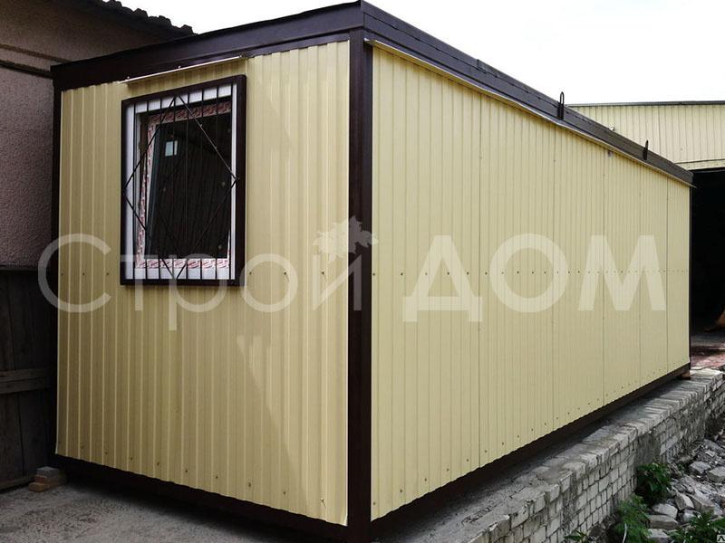 6 метровый блок-контейнер ГОСТ для дачи на участке в Клину. Купить по низкой цене.