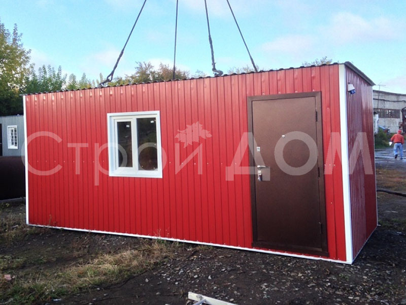 Блок-контейнер по ГОСТ с утеплением. Строительство в Клину недорого.