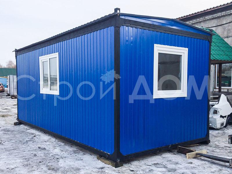 Железный блок-контенер для строителей на участке в Московской области недорого.