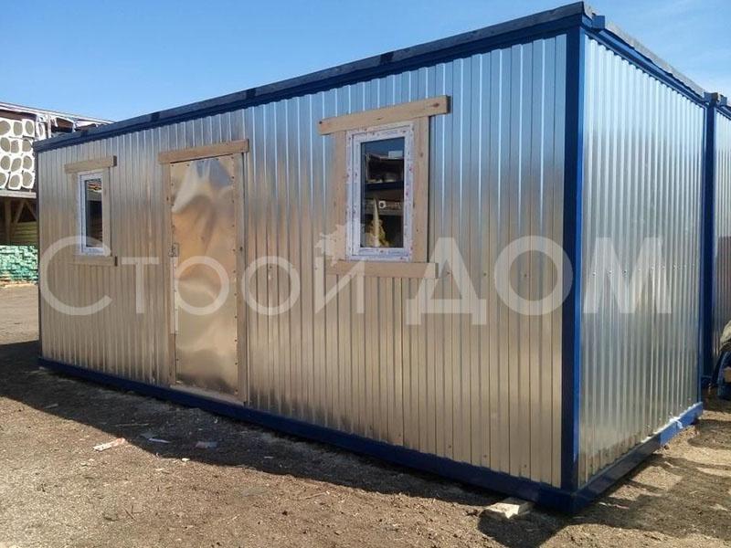 Блок-контейнер распашонка для дачи. Строительство в Клинском районе недорого.