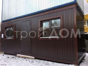 Железный распашной блок-контейнер длиной 6 метров в Клину. Купить недорого с доставкой на участок.