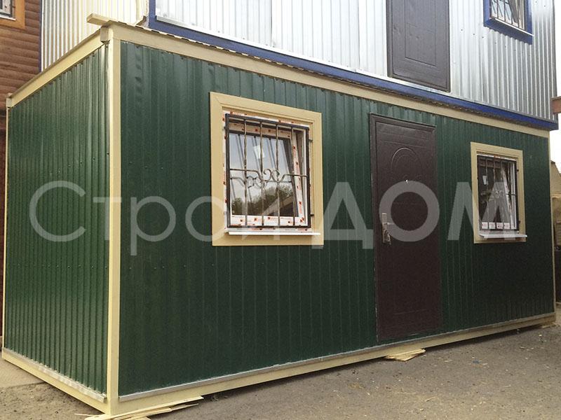 Блок-контейнер распашонка 6 метров для дачи. Купить недорого в Клину.