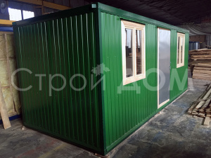 Металлический блок-контейнер распашного типа от производителя бытовок в Клину.
