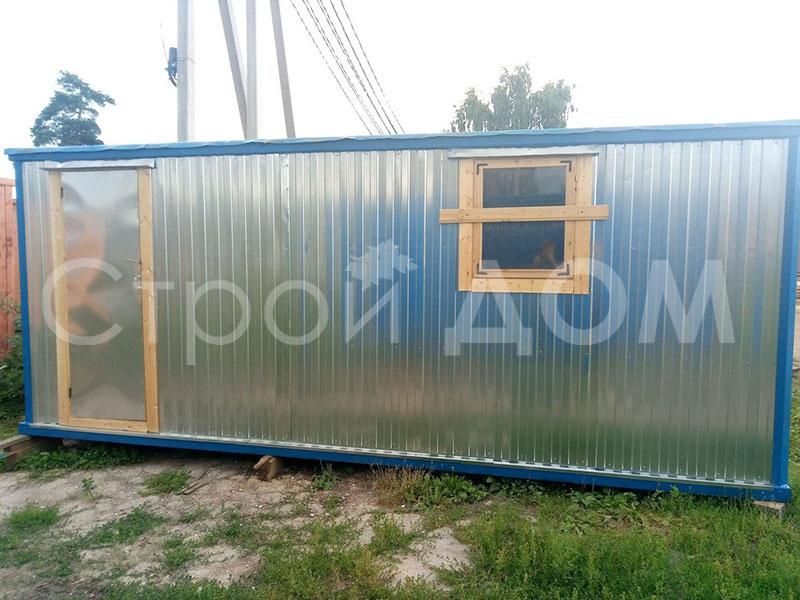 Тамбур в железном блок-контейнере. Купить недорого в Клину, Конаково, Солнечногорске.
