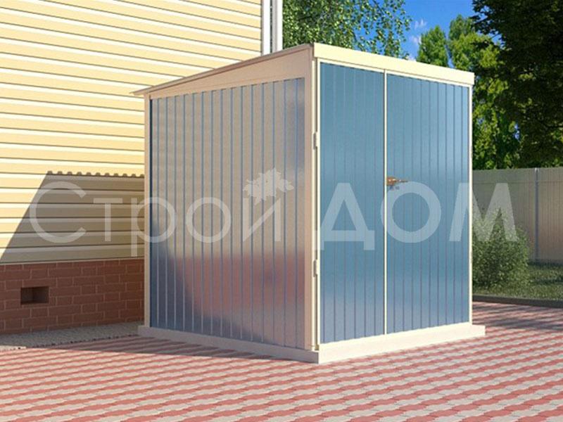 Железный хозблок-бытовка 2 метра. Заказать в Клину, Солнечногорске, Конаково.