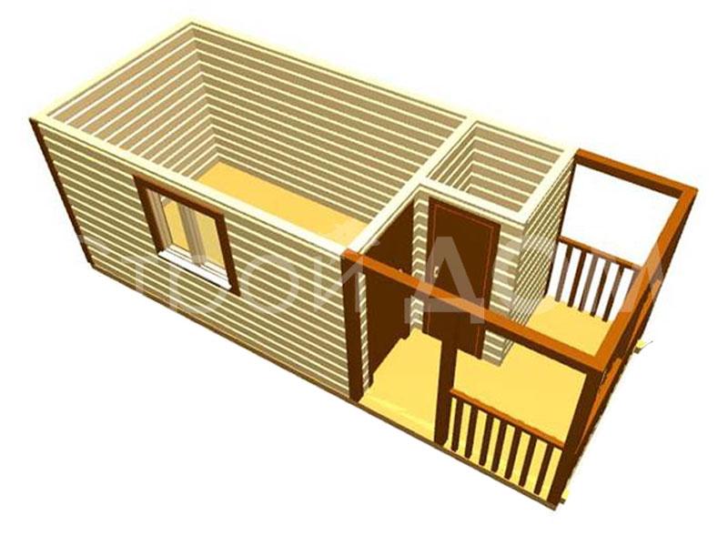 Планировка деревянных бытовок от производителя. Строительство в Клину, Солнечногорске, Конаково.